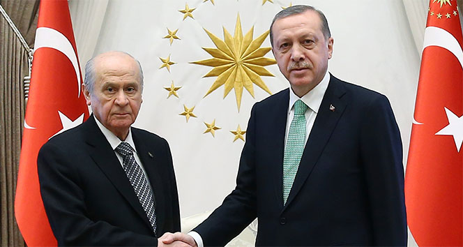Cumhurbaşkanı Erdoğan, MHP Genel Başkanı Bahçeli ile görüştü