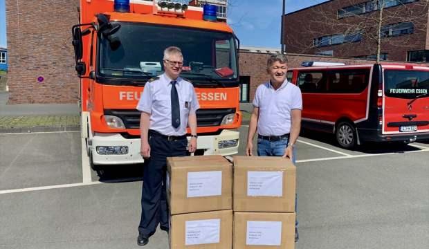 Türk iş adamı Almanya'da bir belediyeye 10 bin maske hibe etti