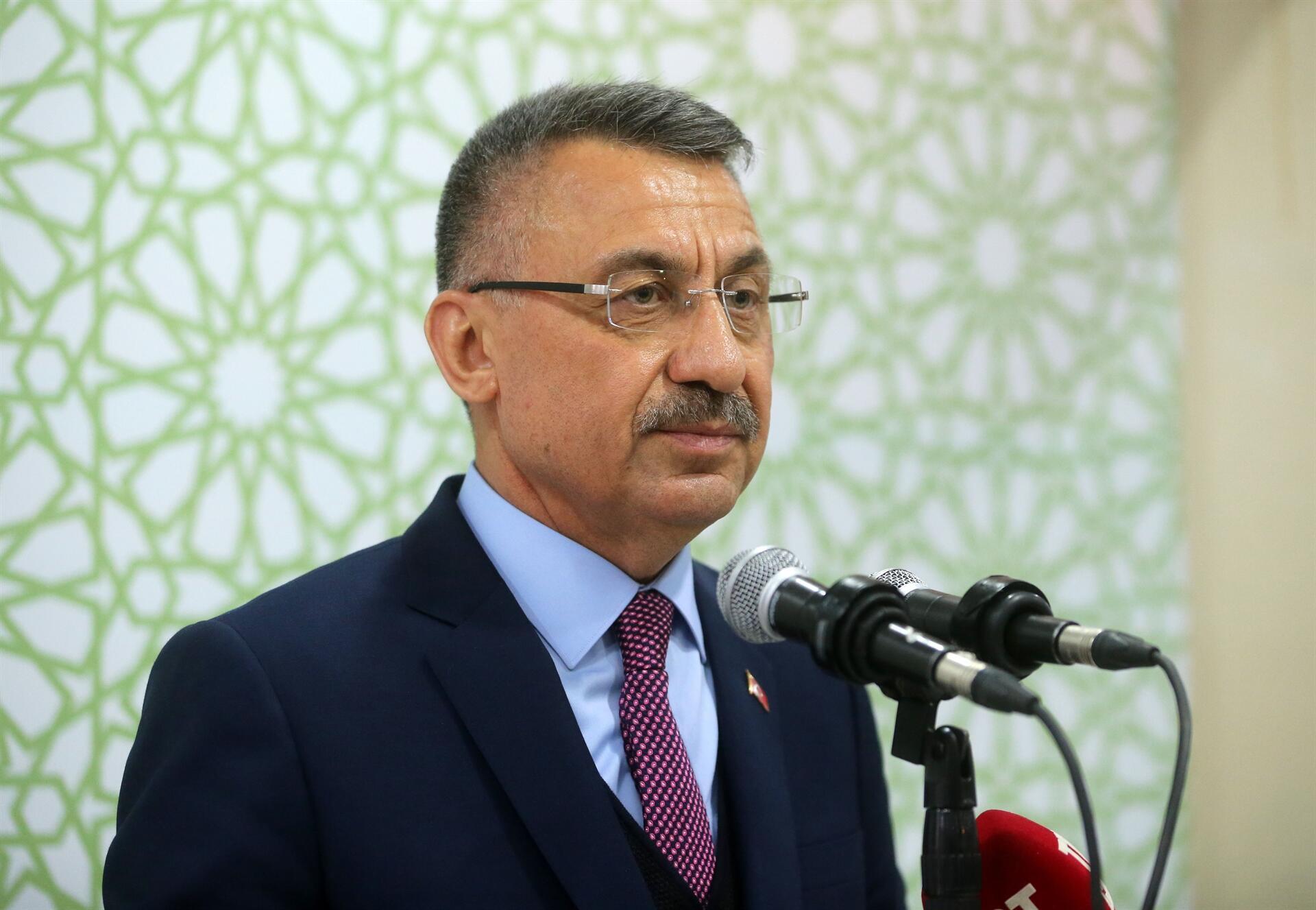 """Fuat Oktay: """"Türkiye Kıbrıs'ta işgali engelleyen ülkedir"""""""