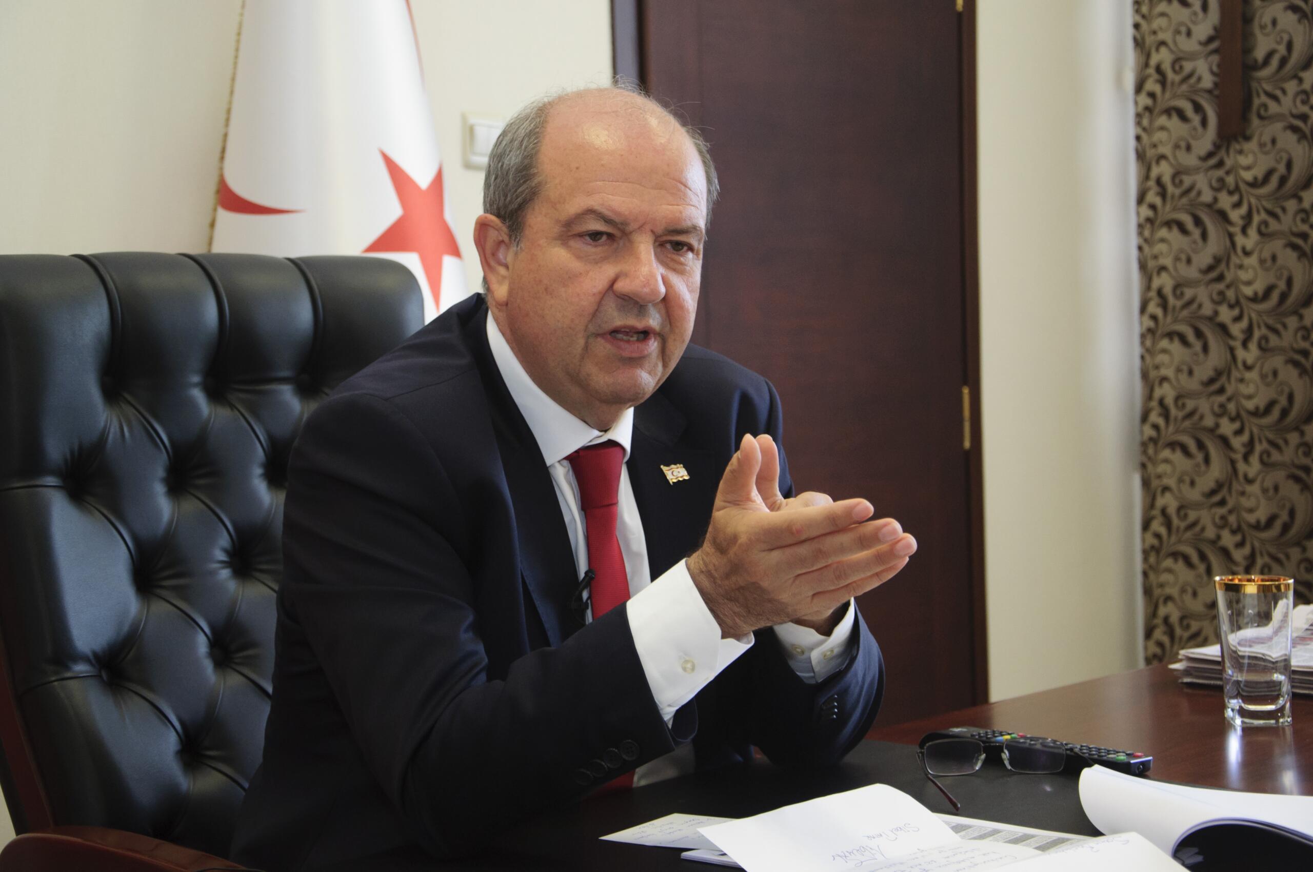 """Ersin Tatar: """"Görüşmeler egemen eşitlik temelinde olmalı"""""""
