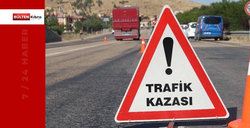 GİRNE'DE KORKUTAN KAZA!