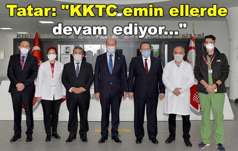 Cumhurbaşkanı Tatar Kıbrıs Sağlık ve Toplum Bilimleri Üniversitesi'ni ziyaret etti.