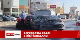 LEFKOŞA'DA KAZA! 3 KİŞİ YARALANDI