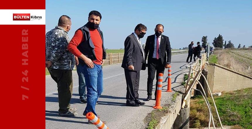 ÜSTEL GAZİKÖY'DE ZARAR GÖREN KORKULUKLARI YERİNDE İNCELEDİ
