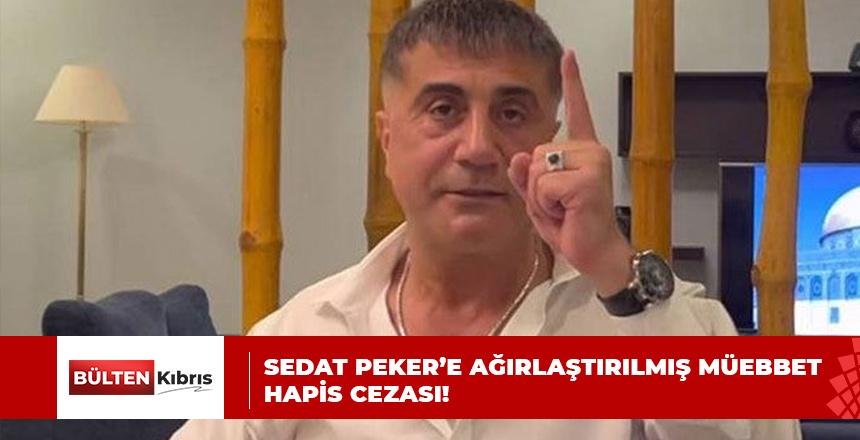 SEDAT PEKER'E HAPİS CEZASI!