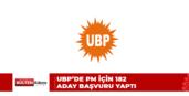 UBP'DE PM İÇİN REKOR ADAY BAŞVURUSU